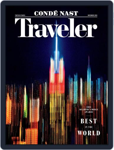 Conde Nast Traveler (Digital) November 1st, 2015 Issue Cover