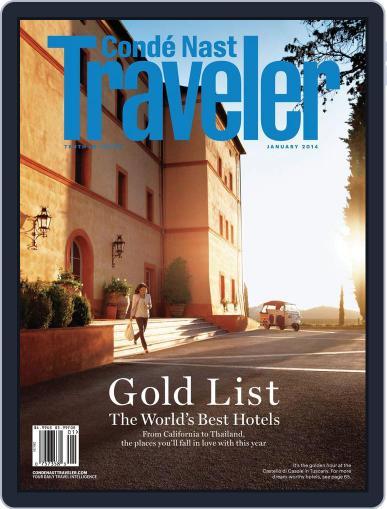 Conde Nast Traveler December 24th, 2013 Digital Back Issue Cover