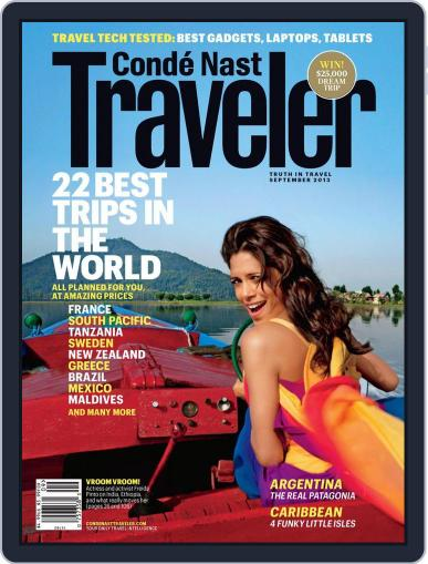 Conde Nast Traveler August 20th, 2013 Digital Back Issue Cover