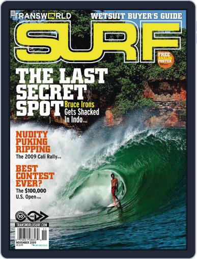 Transworld Surf (Digital) November 1st, 2009 Issue Cover