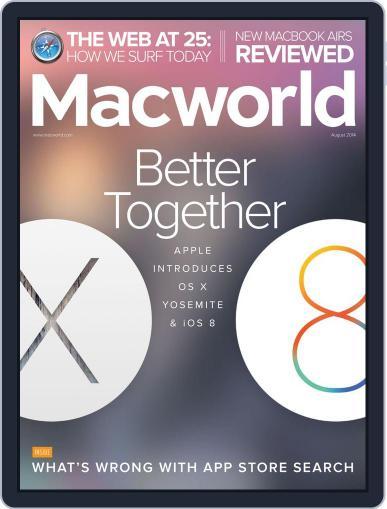 Macworld August 1st, 2014 Digital Back Issue Cover