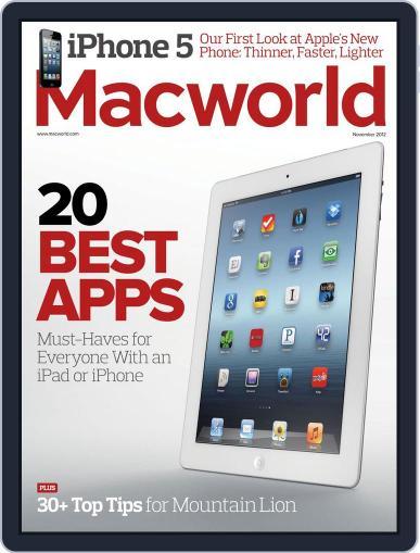 Macworld October 16th, 2012 Digital Back Issue Cover