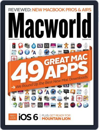 Macworld September 1st, 2012 Digital Back Issue Cover