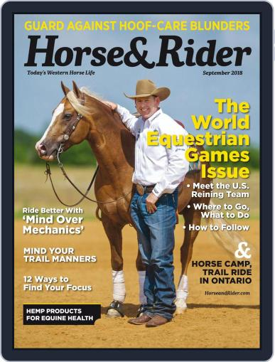 Horse & Rider (Digital) September 1st, 2018 Issue Cover