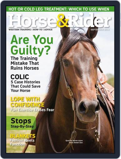 Horse & Rider August 26th, 2014 Digital Back Issue Cover