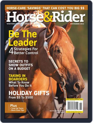 Horse & Rider (Digital) October 22nd, 2013 Issue Cover