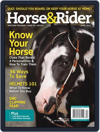 Horse & Rider (Digital) March 26th, 2013 Issue Cover
