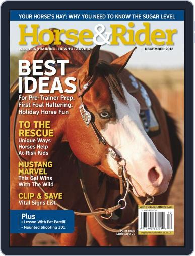 Horse & Rider (Digital) November 12th, 2012 Issue Cover