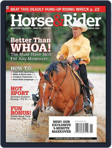 Horse & Rider (Digital) October 27th, 2009 Issue Cover