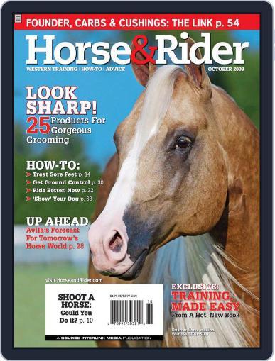 Horse & Rider (Digital) September 29th, 2009 Issue Cover