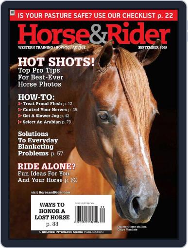 Horse & Rider (Digital) August 25th, 2009 Issue Cover