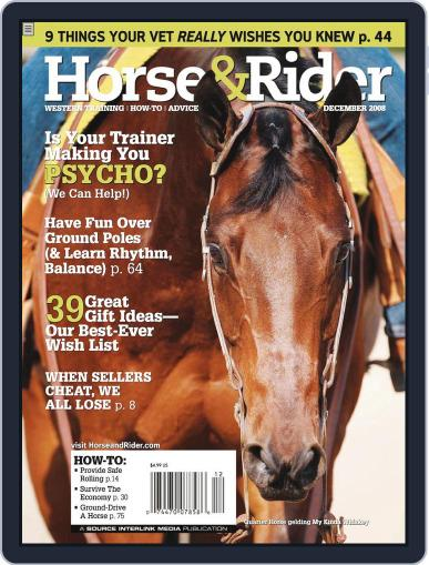 Horse & Rider (Digital) November 25th, 2008 Issue Cover