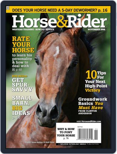 Horse & Rider (Digital) October 28th, 2008 Issue Cover