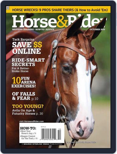 Horse & Rider October 3rd, 2008 Digital Back Issue Cover