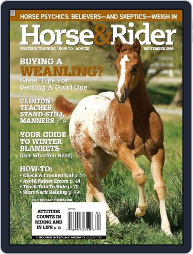 Horse & Rider August 26th, 2008 Digital Back Issue Cover