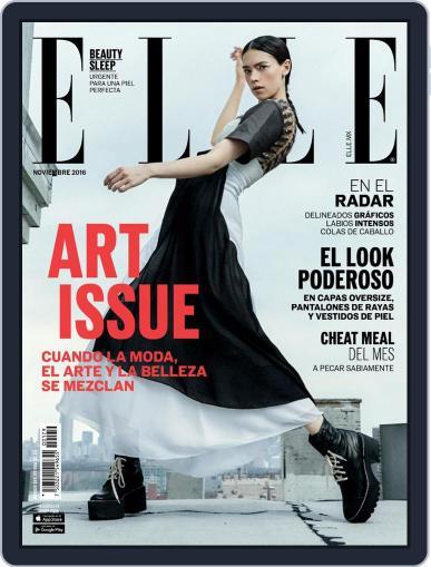 Elle México (Digital) November 1st, 2016 Issue Cover