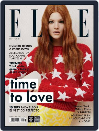 Elle México (Digital) February 1st, 2016 Issue Cover