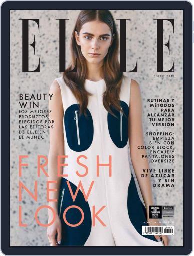 Elle México January 1st, 2016 Digital Back Issue Cover