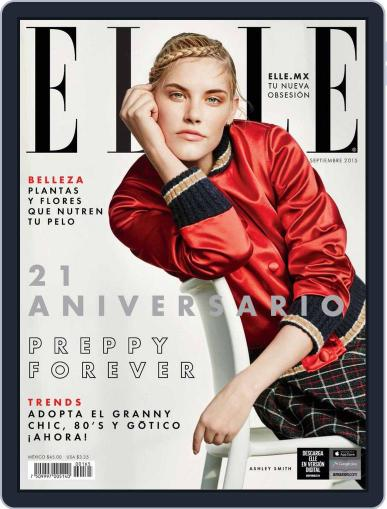 Elle México (Digital) September 2nd, 2015 Issue Cover