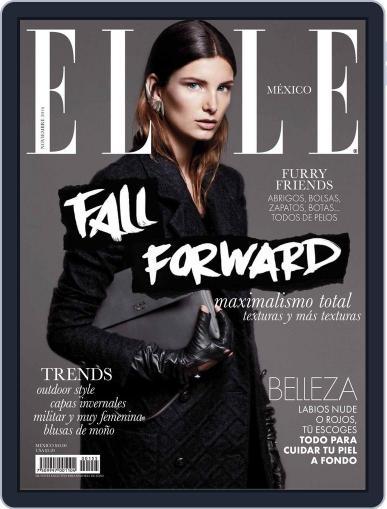 Elle México (Digital) November 10th, 2014 Issue Cover