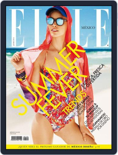 Elle México June 2nd, 2014 Digital Back Issue Cover