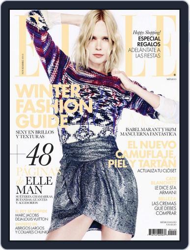 Elle México (Digital) October 29th, 2013 Issue Cover