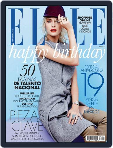 Elle México (Digital) August 27th, 2013 Issue Cover