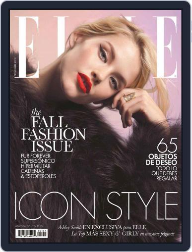 Elle México (Digital) November 12th, 2012 Issue Cover
