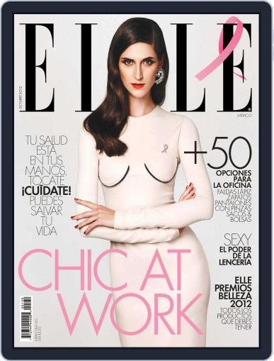Elle México (Digital) September 30th, 2012 Issue Cover