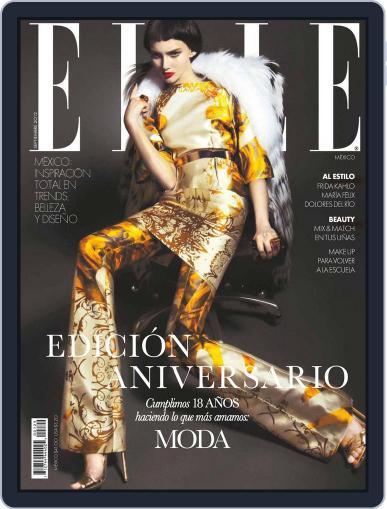 Elle México August 31st, 2012 Digital Back Issue Cover