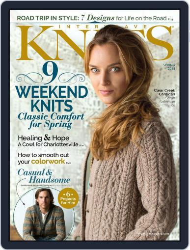 Interweave Knits February 8th, 2018 Digital Back Issue Cover