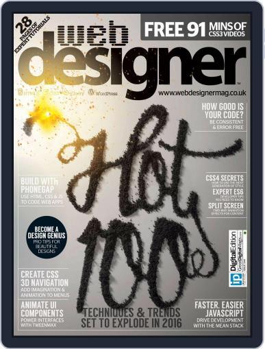Web Designer (Digital) February 1st, 2016 Issue Cover