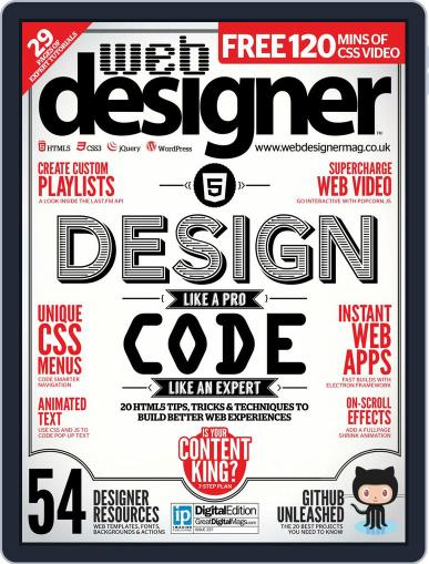 Web Designer (Digital) June 30th, 2015 Issue Cover