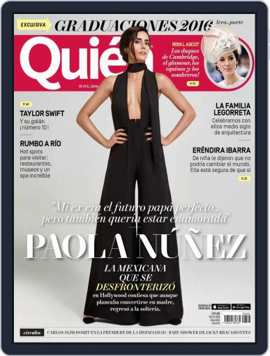 Quién (Digital) July 1st, 2016 Issue Cover