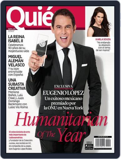 Quién (Digital) April 15th, 2016 Issue Cover