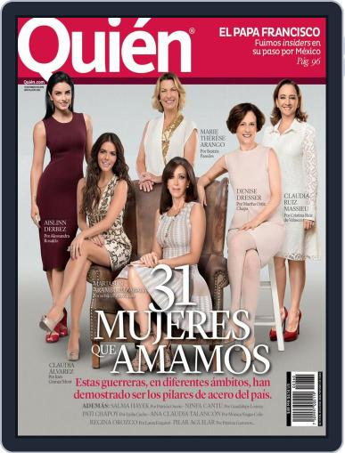Quién March 1st, 2016 Digital Back Issue Cover