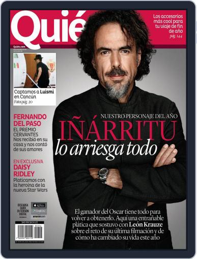 Quién (Digital) December 18th, 2015 Issue Cover