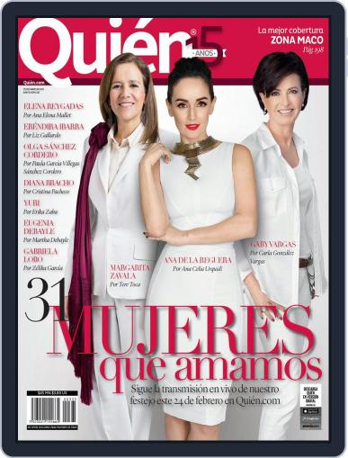 Quién (Digital) February 28th, 2015 Issue Cover