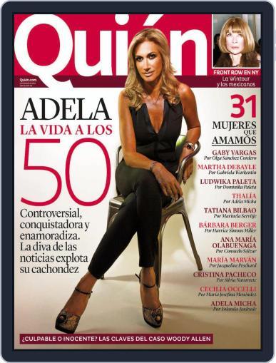 Quién (Digital) February 28th, 2014 Issue Cover