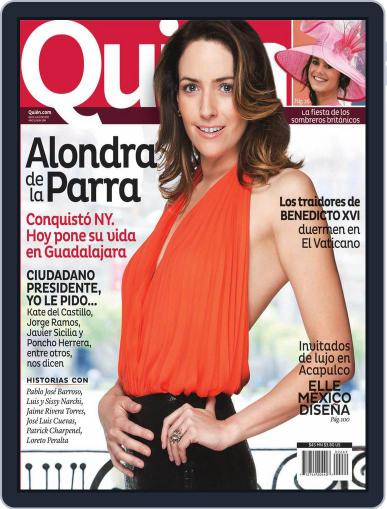Quién July 5th, 2012 Digital Back Issue Cover