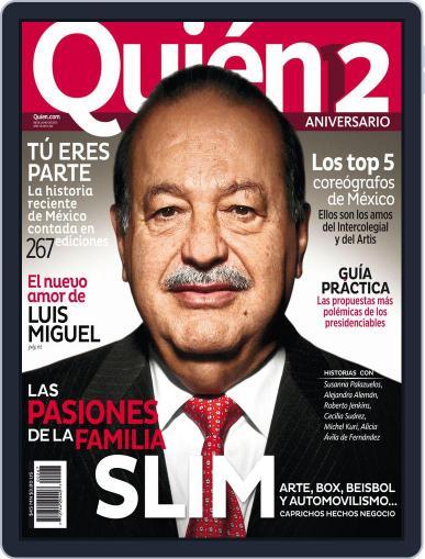 Quién (Digital) June 7th, 2012 Issue Cover