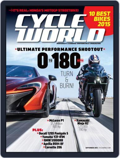 Cycle World September 1st, 2015 Digital Back Issue Cover