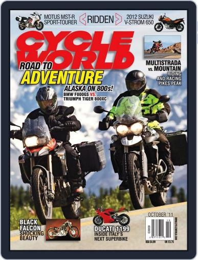 Cycle World September 6th, 2011 Digital Back Issue Cover