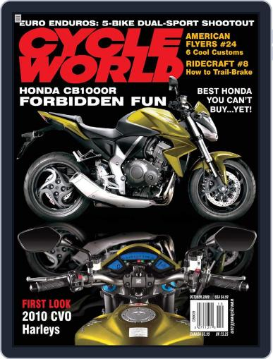 Cycle World August 18th, 2009 Digital Back Issue Cover