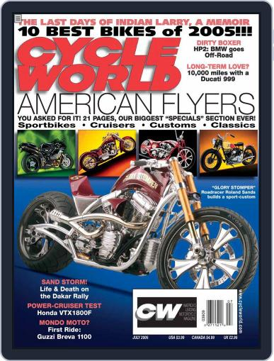 Cycle World May 24th, 2005 Digital Back Issue Cover