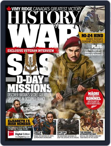 History of War (Digital) August 1st, 2017 Issue Cover