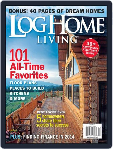 Log and Timber Home Living (Digital) December 16th, 2013 Issue Cover