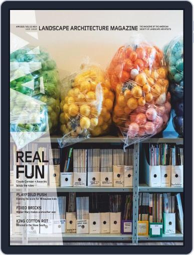 Landscape Architecture April 1st, 2020 Digital Back Issue Cover
