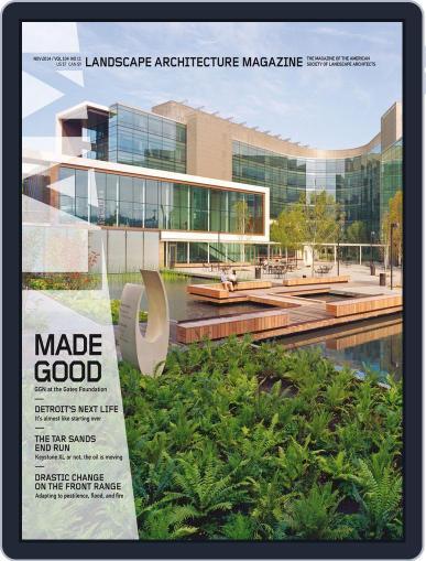 Landscape Architecture October 31st, 2014 Digital Back Issue Cover