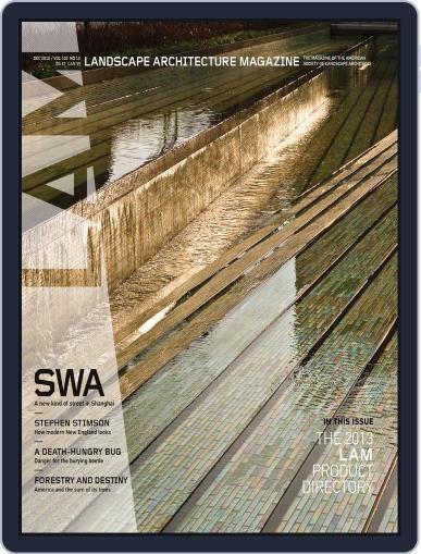 Landscape Architecture (Digital) November 29th, 2012 Issue Cover